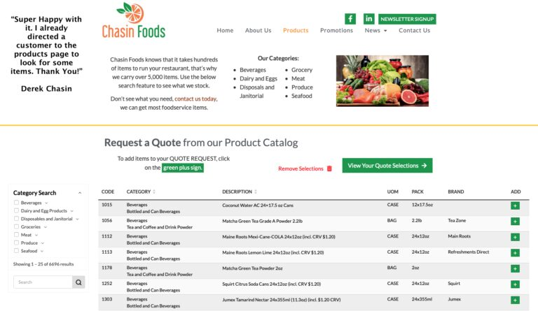 Digital Product Catalog