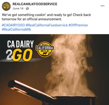 2021 CA Dairy 2GO Competition